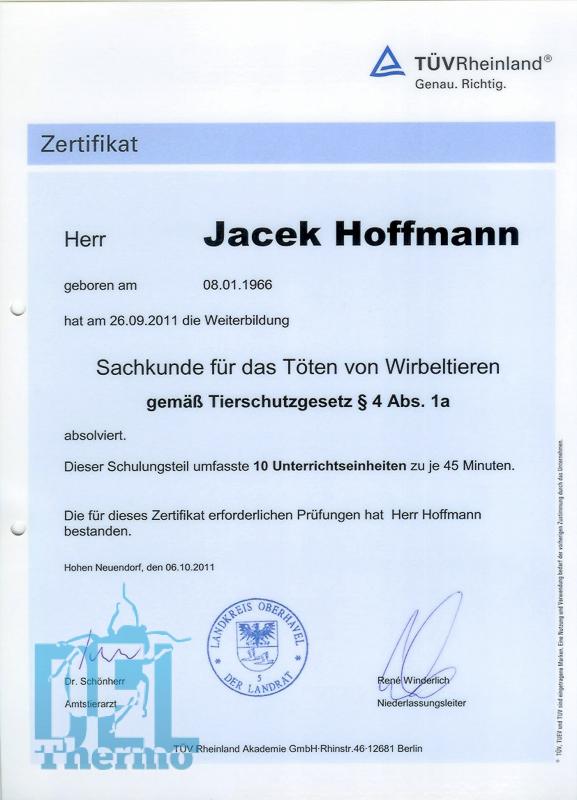 Kammerjäger Frankfurt Qualifikation